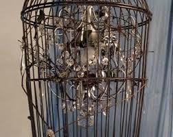Birdcage Chandeliers Twig Chandelier Etsy