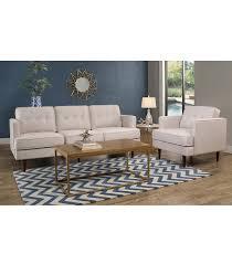 tufted sofa living room sets clinton tufted sofa u0026 chair ivory