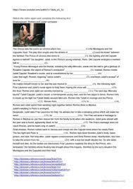 7 free esl romeo and juliet worksheets