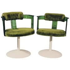 green lucite mod tulip chairs by daystrom circa 1970 vintage mid
