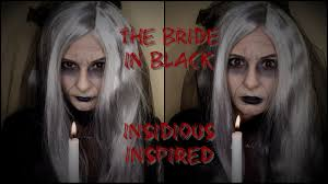 halloween makeup tutorial bride in black from insidious youtube