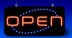 Open Light Up Sign Flexilight New Zealand Christmas Lights Novelty Lights