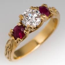ruby diamond ring ruby rings july birthstone eragem