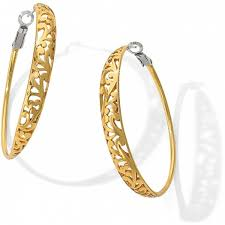 gold hoops earrings gold hoop earrings brighton collectibles