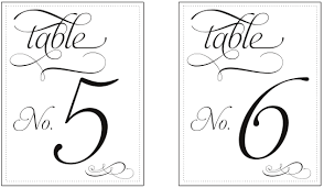 wedding table numbers template free printable table numbers template vastuuonminun