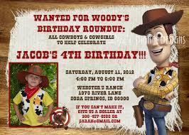 toy story birthday invitation woody bullseye photo option