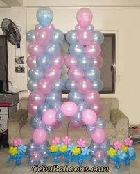 balloon decoration for boy double christening celebration