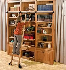 Bookcase Ladder Hardware Furniture Home 34 Surprising Bookcase With Ladder And Rail