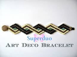 beaded butterfly bracelet images Tutorial superduo bracelet peyote art deco instant pattern jpg