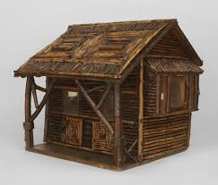 Log Cabin Furniture Early 20th C American Rustic Miniature Log Cabin For Sale At 1stdibs