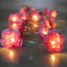 warm white string fairy lights 4m 40pcs christmas lights creative diy manual small silk flower warm