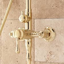 alliston exposed pipe shower with hand shower bathroom