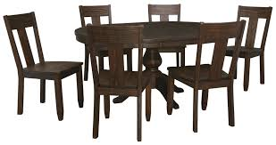 signature design by ashley trudell 7 piece oval dining table set