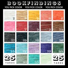 twenty five yards o thread you pick color from bookfindings on