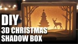 mad stuff with rob how to make a 3d christmas shadow box card