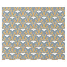deco wrapping paper gold and silver blue deco fan flowers pattern wrapping paper