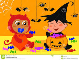 free halloween party clipart babies at halloween party royalty free stock images image 13535129