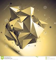 3d gold futuristic style abstract background origami asymmetric