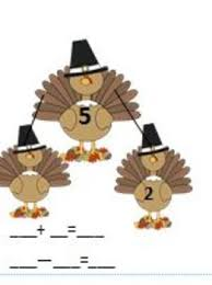 thanksgiving math a great grade number bond packet by