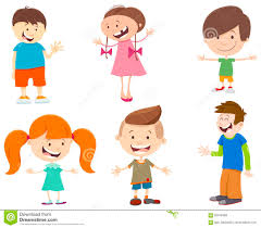 cartoon set of kid characters stock vector image 93476369