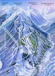 aspen map aspen highlands colorado niehues map artist ski maps