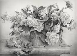 Vase Of Flowers Drawing 30 Beautiful Flower Drawings Art And Design
