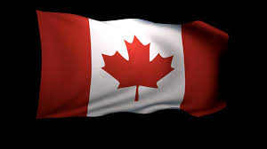 3d rendering of the flag of canada waving in the wind hd stock