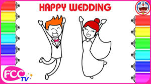 wedding bride and groom coloring pages how to draw boy and