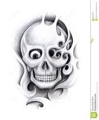 art skull tattoo stock illustration image 60902479