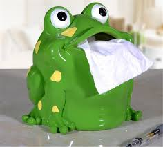 novelty cartoon home decor frog style tissue box resin paper
