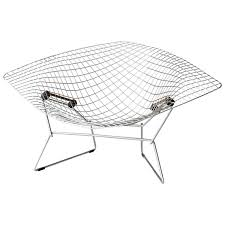 Knoll Rocking Chair Diamond Chair W Ottoman By Harry Bertoia For Knoll At 1stdibs