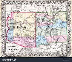 Map New Mexico by Antique Map New Mexico Arizona 1870 Stock Illustration 631289