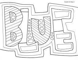 colors coloring pages classroom doodles