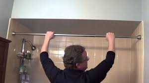 Putting Curtain Rods Up Shower Rod Installation Tension Shower Rods Youtube