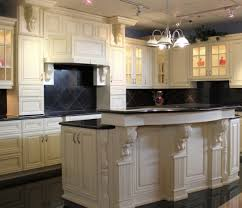 How To Antique Kitchen Cabinets by Kitchen Antique White Kitchen Cabinets With Chocolate Glaze