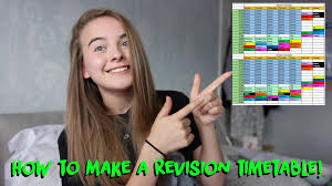 gcse revision planner template how to make a revision timetable youtube