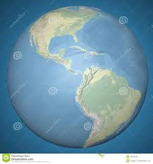 Central America Physical Map world earth globe central america physical relief map stock