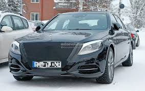 2018 mercedes benz s class facelift emerges with covered snout