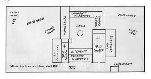 mission san jose floor plan missions