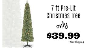 pre lit 7 foot pencil tree only 39 99 shipped reg 100