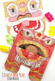 lion mask for kids new year paper bag lion masks and a book list pink