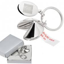 fortune cookie keychain custom laser engraved metal promotional keychains low pricing 3
