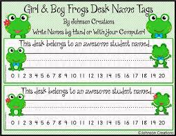Desk Name Tags by Johnson Creations Boy U0026 Frogs Desk Name Tags