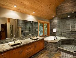 bathroom wood ceiling ideas 21 river rock bathroom designs decorating ideas design trends