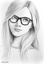 girls pencil sketch simple pencil drawings of drawing and