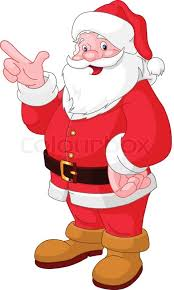 santa claus picture happy christmas santa claus pointing stock vector colourbox