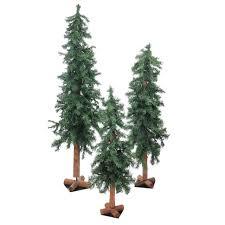 unlit christmas trees set of 3 woodland alpine artificial christmas trees 3 4 5