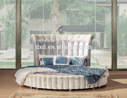 High Headboard Beds Luxury White Hotel Bed With High Headboard Round Bed Fabric Bed