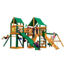 Lowes Swing Set Outdoors Amazing Gorilla Playset For Cool Kids Playground Ideas
