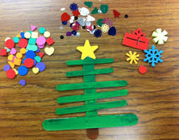 Xmas Kids Crafts - holiday craft craft stick christmas trees scholastic